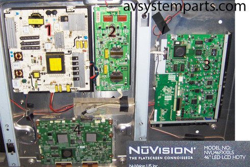 NUVISION NVU46fx10LS Parts: