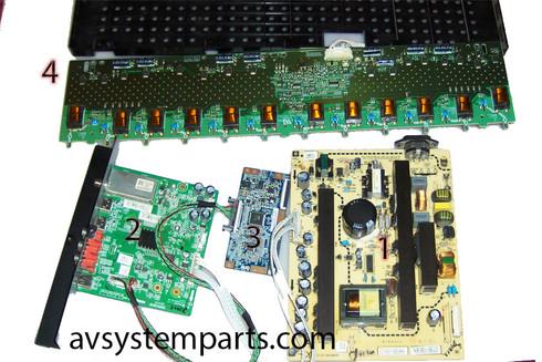 TV Dynex DX-46L262A12 Parts:6MS0052010,6MS00501C0,T315hw04,V291-502