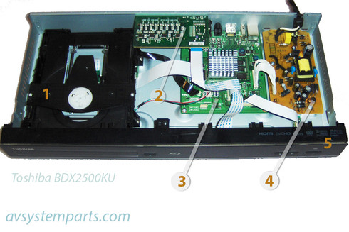 Toshiba BDX2500KU Parts:FWY1049C,TPS-020U01
