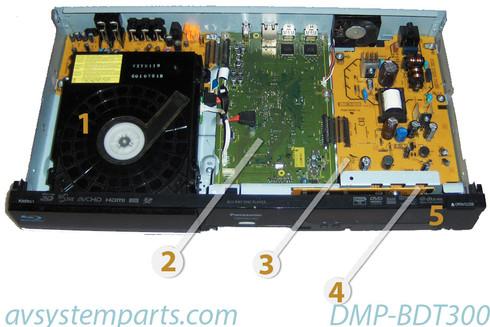 Panasonic DMP-BDT300 Parts:VXY2119,VEP74122A,VEP76219,VEP71178A