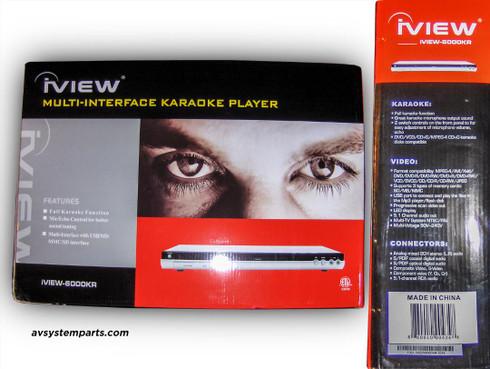 iView-6000KR Multi-Interface Karaoke 5.1Ch.CD/DVD NTSC/PAL Player