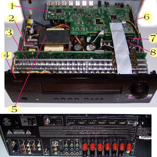 DENON AVR-1712, AVR-1912 3D BD AMP 7 1 Channel  7020-07049-020-0S,7028-07051-101-1,7028-07052-101-1,SKP6503-30,7028-07052-201-1  Parts