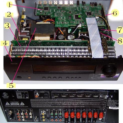 Denon AVR-1712 parts
