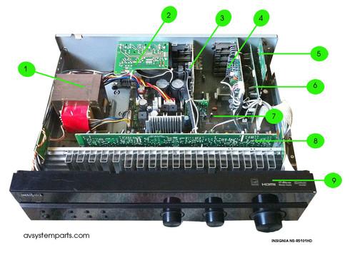 Insignia NS-R5101HD Parts