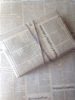 Vintage Newspaper...with FREE introductory giveaway Jute!