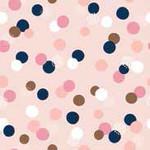 Trendy Peach Confetti
