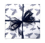 Counter Roll Gift Wrap - 80 gsm - 50m Navy Watercolour Birds