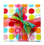 Counter Roll Gift Wrap - 80 gsm - 50m - Bold Party Dots