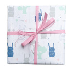 Counter Roll Gift Wrap - 80gsm - 50m - Rabbit on White