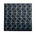 Counter Roll Gift Wrap - 80 gsm - 50m Slate Geo Deco