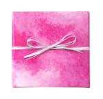 Counter Roll Gift Wrap - 80 gsm - 50m - Watercolour Hot Pink