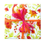 Counter Roll Gift Wrap - 80 gsm - 50m - Eden Floral Green