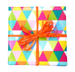 Multi Triangle counter roll gift wrap 80gsm 50m