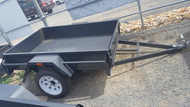 "6 X 4 Trailer 750kg 12"" Sides, Fixed Front, Checker plate floor, With jockey Wheel and Spare Wheel"