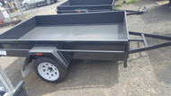 "8 X 5 trailer 750kg GVM 12"" Sides Checker Plate Floor Drop Front"