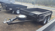 "8 X 5 Tandem Trailer 15"" Sides Full Checker Plate With Jockey Wheel and Spare Wheel"