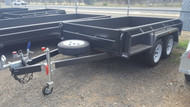 "9 X 5 Tandem Trailer 15"" Sides Full Checker Plate With Jockey Wheel and Spare Wheel And New Rims and tyres"