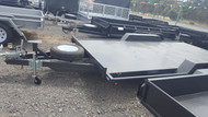 14 X 6 Semi Flat Car Carrier 1990kg GVM With Winch and jockey wheel and spare wheel  and slide under ramps