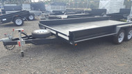 "16 X 6' 6"" Heavy Duty Car Carrier 10"" Sides, Full Checker Plate, With Jockey Wheel and spare wheel New Wheels and Tyres"