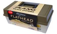 135 Pieces Plano Gillies 1 Tray Flathead Fishing Tackle KIT BOX Hook Swivel Lure