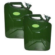 2 X 20 Litre Steel Jerry Cans Fuel Petrol Diesel Container Goldfields Leisure