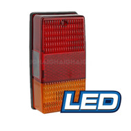 LED TRAILER LAMP RED/AMBER RECT.