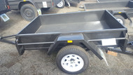 "6 x 4 750kg GVM 12"" sides, Drop Front checker plate floor"