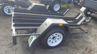 6 X 4 Three Bike Trailler 750kg GVM, Reinforced chancels/ filled in sides, Jerry Can holder