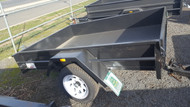 "7 X 5 Trailer 750kg GVM 12"" Sides, Fixed Front, Checker plate Floor, Jockey wheel, Spare wheel"