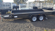 "14 X 6'6"" Heavy Duty Tandem Trailer Full Checker Plate floor, Jockey Wheel, Spare Wheel"