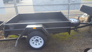 "6 X 4'2"" Trailer 750kg GVM, 12"" Sides, Fixed Front, Checker Plate Floor, Jockey Wheel, Spare wheel"