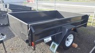 "8 X 5 Trailer 750kg, Deep 18"" sides, Smooth floor, Fixed front , jockey wheel"