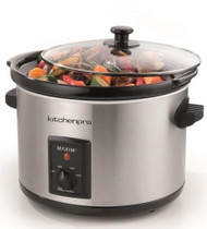 MAXIM Slow Cooker 5L Stainless Steel Auto