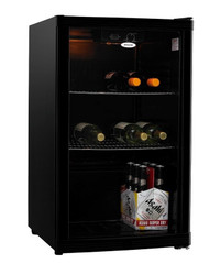 HELLER 115L Black Beverage Cooler