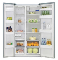 HELLER  Side by Side Stainless Steel Fridge & Freezer 559 Litres with Water Dispenser