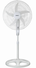 HELLER 50cm Deluxe Pedestal Fan (White)