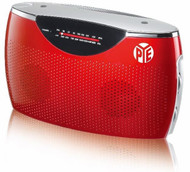 PYE Portable AC/DC Radio (Red)