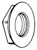 10788, Wall Fitting, Nut Old Style Skimmer