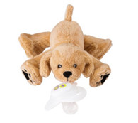 Nookums Paci Plushies- Golden Puppy