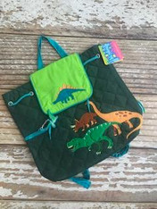 Stephen Joseph Gifts Quilted Backpack- Dinosaur