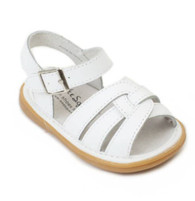 Wee Squeak Emma white girls sandal