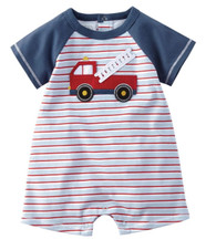 Mud Pie Fire Truck Shortall