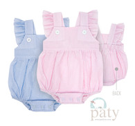 Paty girls seersucker angel sleeve bubble