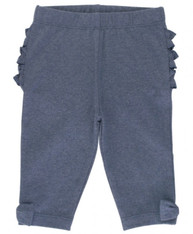 Ruffle Butts Faux denim bow-detail capri leggings