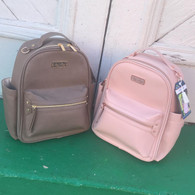 Itzy Ritzy Mini Backpack Diaper Bag- Taupe