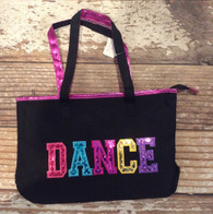 Black colorful dance Bag
