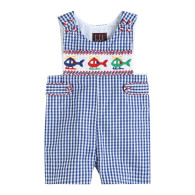 Lil Cactus Blue Gingham Helicopter Shortall