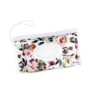 Itzy Ritzy Take and Travel Pouch Reusable Wipes Case-Blush Floral