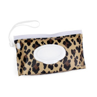 Itzy Ritzy Take and Travel Pouch Reusable Wipes Case-Leopard