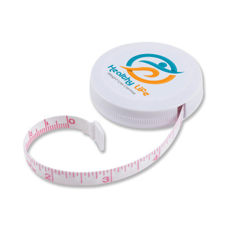 White Retractable Tape Measure